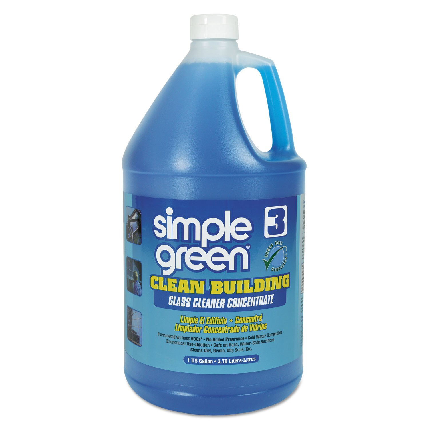 Simple Green 11301 Clean Building Glass Cleaner Concentrate, Unscented, 1gal Bottle (Case of 2) by SIMPLE GREEN