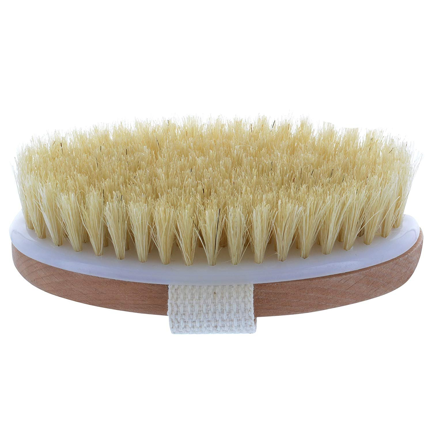 BOMIEN Dry Skin Body Brush -Wooden and Natural Bristle Shower Bath Brush -Cellulite Exfoliating Shower & Bath Massage and Lymphatic Detox Dry Brushing