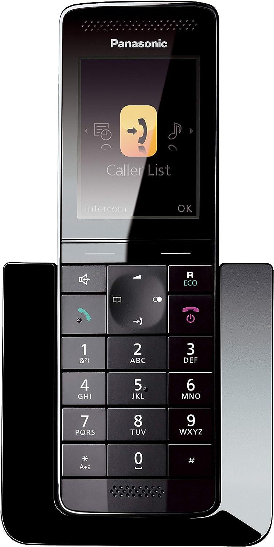 Panasonic KX-PRS110 - Teléfono Inalámbrico Digital Premium (LCD Color, Agenda de 300 números, Bloqueo de Llamadas, Modo Eco Plus, Modo No Molestar), Color Negro