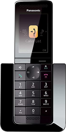 Panasonic KX-PRSA10EXW- Teléfono Inalámbrico Digital Premium Supletorio (LCD Color, Agenda de 300 números, Bloqueo de Llamadas, Modo Eco Plus, Modo No Molestar), Color Negro: BLOCK: Amazon.es: Electrónica
