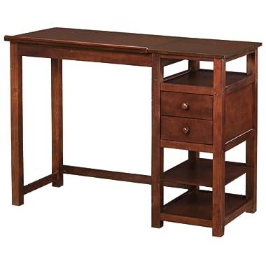 Dorel Living Drafting and Craft Counter Height Desk, Espresso