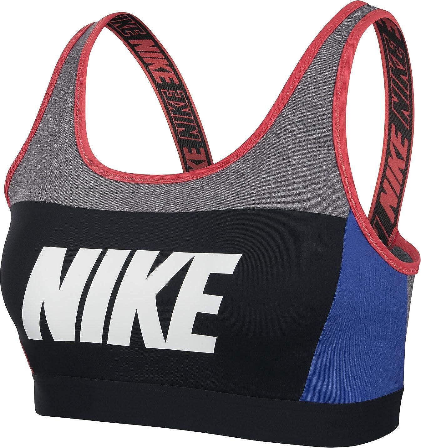 Nike AQ0142-092 Sujetador Deportivo, Carbon Heather/Game Royal ...