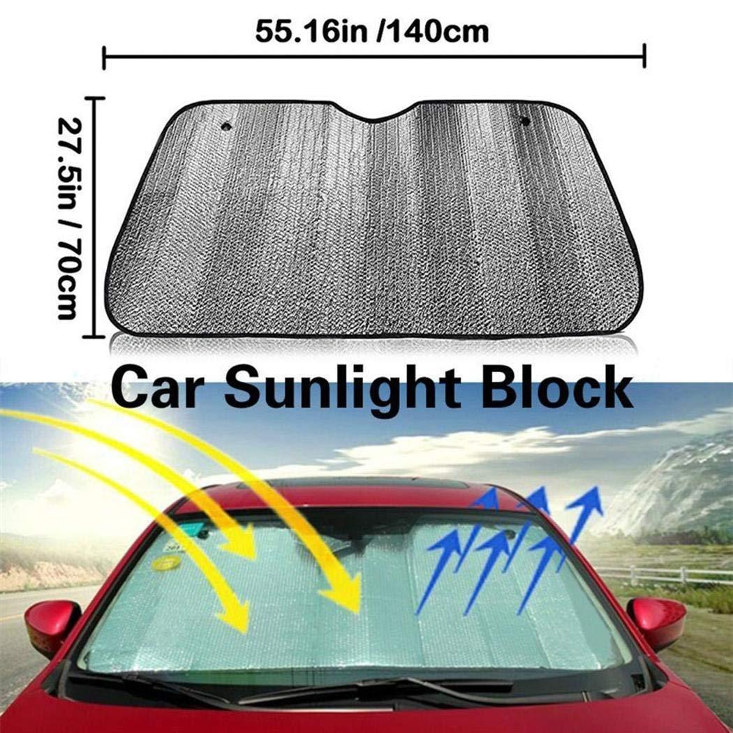 Kaimu Foldable Front Rear Windshield Car Window Sun Visors Sunshade Cover Block Windshield Sunshades