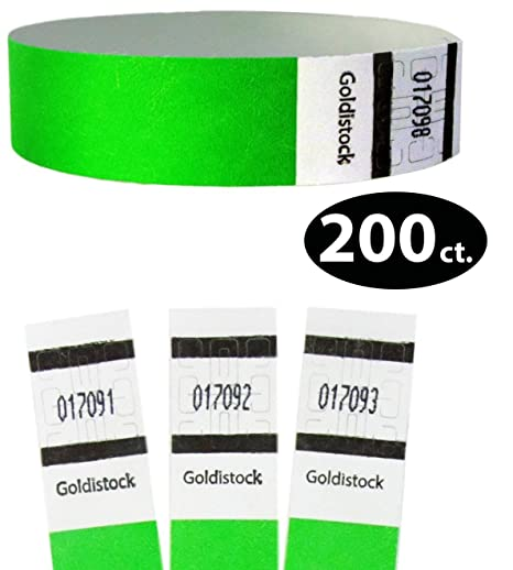 Amazon.com: Goldistock Original Series - Pulseras Tyvek de 3 ...
