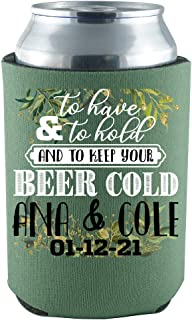 product image for Personalized Wedding Can CooliesTo Have to Hold to Keep Your Beer Cold Party Supplies Wedding Décor 48 Pack Can Coolie Drink Coolers Coolies Multi