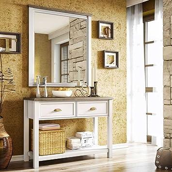 Pharao24 Dielenmöbel Set In Weiß Landhaus Design Amazonde