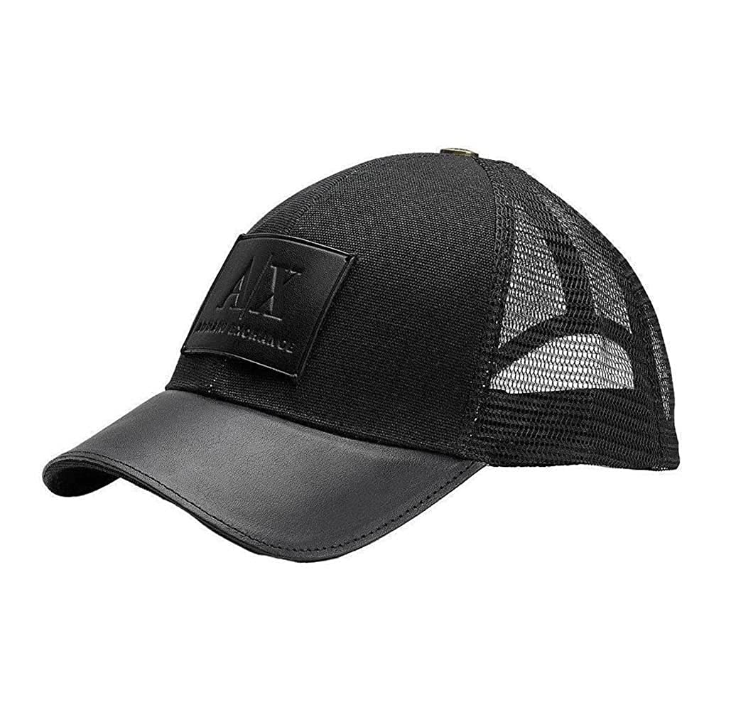 Top1  Armani Exchange Brand New with Tags Leather Patch Baseball Hat.  Wholesale ... b0d6df009842