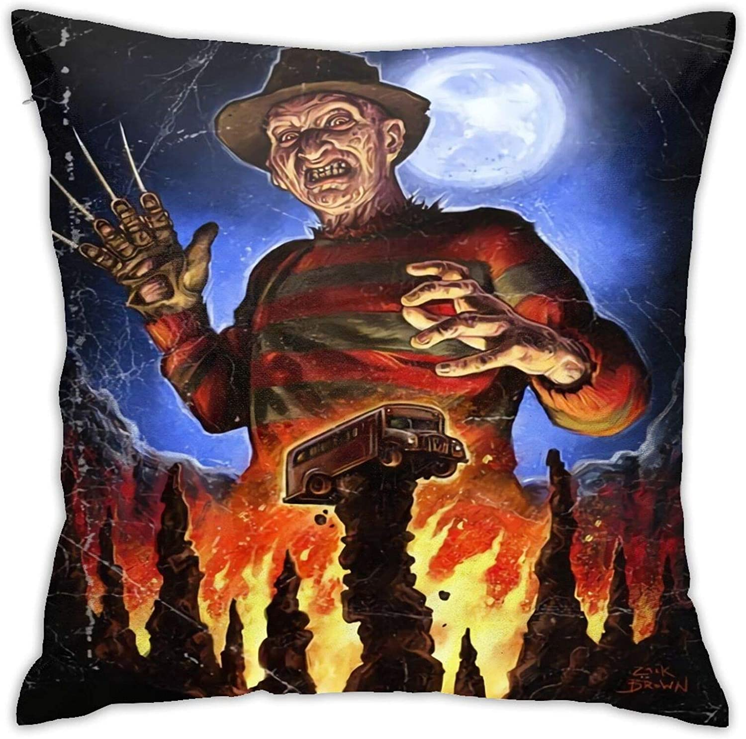 Nightmare On Elm Street Comfortable Pillowcase with Patterns On Both Sides Pillowcases 18inch 18inch Excluding Pillow Core