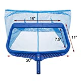 Upgraded Pool Skimmer Net, Heavy Duty Leaf Rake for