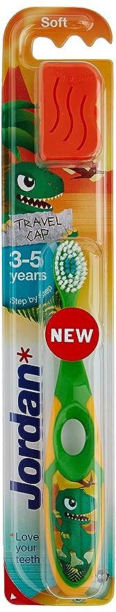 Jordan - Cepillo de dientes para niños (3 - 5 años), colores surtidos