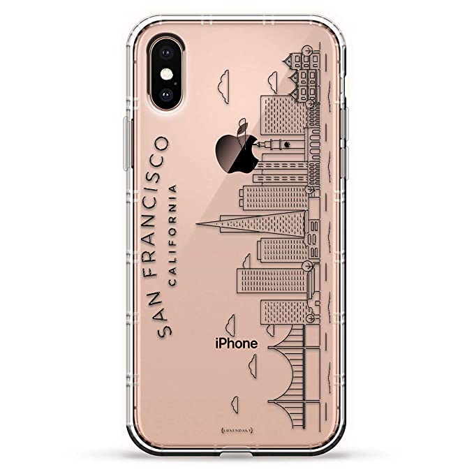 San Francisco Skyline Luxendary Air Series Clear Silicone Case With 3d Printed Design And Air Pocket Cushion Bumper For Iphone Xs Max New 2018 2019