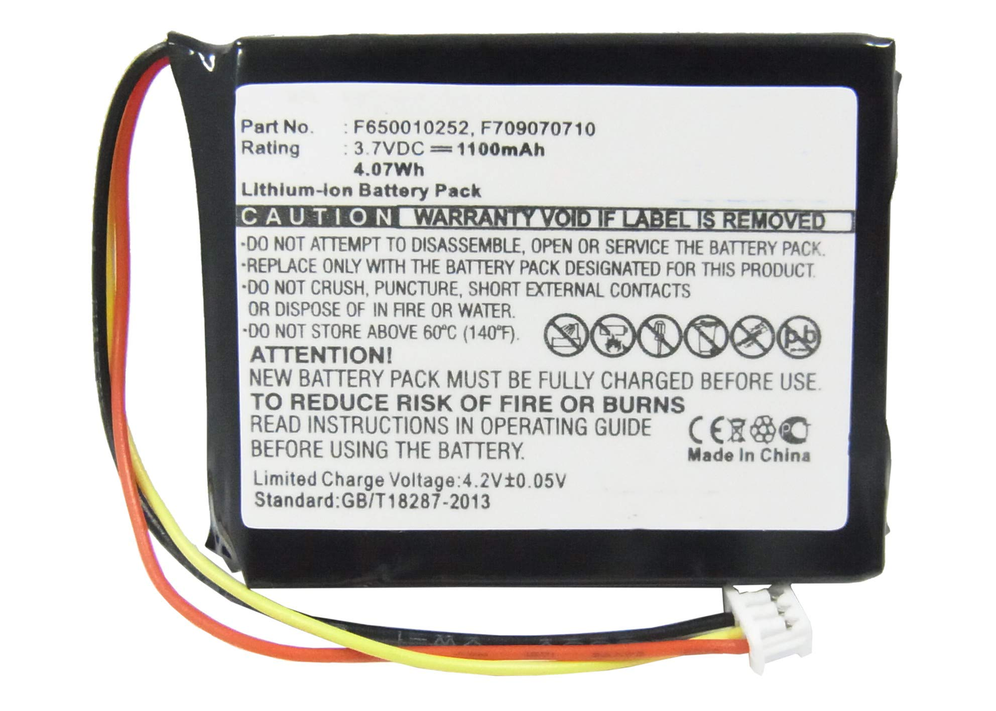 Synergy Digital Battery Compatible with Tomtom NVT2B225 GPS Battery (Li-Ion, 3.7V, 1100 mAh) - Repl. Tomtom F650010252 Battery