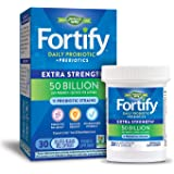 Nature's Way Fortify Extra Strength Daily Probiotic, 50 Billion Live Cultures, 11 Strains, Prebiotics, 30 Capsules