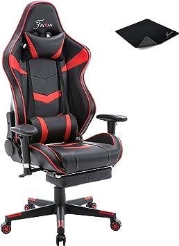 Fauteuil Bureau Roulette gaming Réglable Chaise Ergonomique racing appui-tête FR