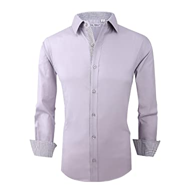 2c920d4a2cd Alex Vando Mens Dress Shirts Regular Fit Long Sleeve Men Shirt at ...