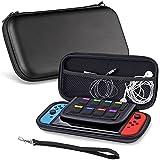 Sora® Funda / Estuche Liso para Nintendo Switch. Estuche / Case Color Negro para Nintendo Switch. Guarda hasta 8 Tarjetas de Juego y sus Accesorios.