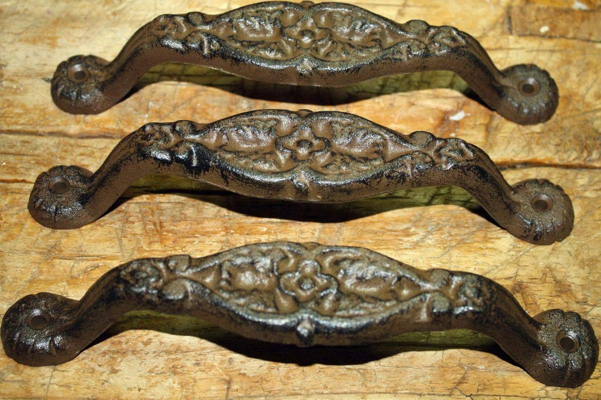 2 Antique Style Heavy Duty Barn Handle Gate Pull Shed Door Handles Vintage Cast Iron Supplies for Home Decor by CharmingSS