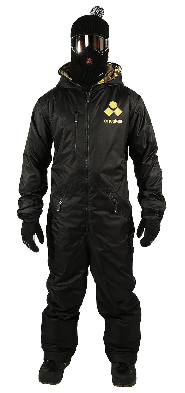 Oneskee Mark II Herren Einteilige Skianzüge - Schwarz ski onesie