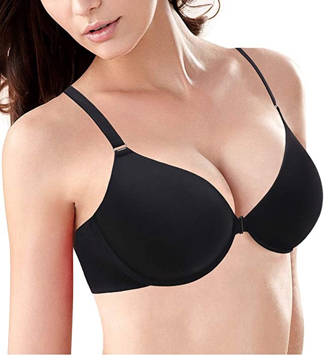 31ef4de7f3f 38C-46DDD Women s Plus Size Front Closure Bra Support Underwire Full  Coverage Everyday Bra