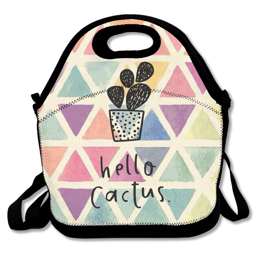 Hello Cactus Love CactusランチバッグLunchトートバッグ B072JJ9XVK