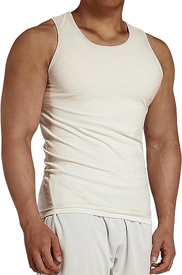 Komprexx Tank Top Men Gym - Slim FIT - Stretchy Sleeveless Shirts Muscle  Summer Sports Vest