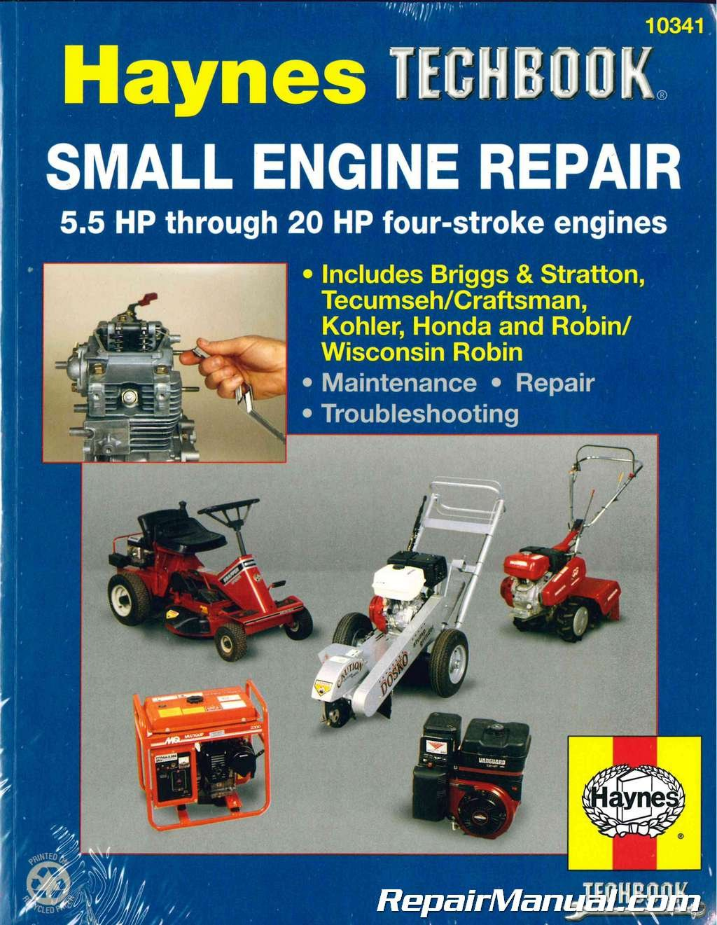 H10341 Haynes Small Engine Repair Haynes Techbook 5.5 HP through 20 HP:  Manufacturer: Amazon.com: Books