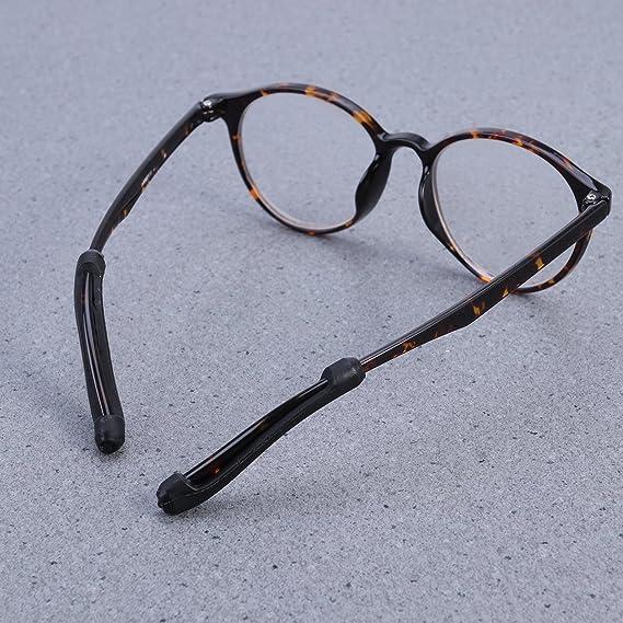 Auricolari per occhiali Silicone antiscivolo - nero t4cRV6f