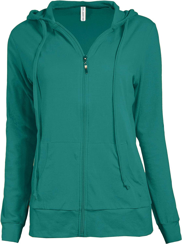 TOP LEGGING Zip Up Hoodie Women Casual Active Lightweight Thin Full Zip Hoodie Sweatshirt