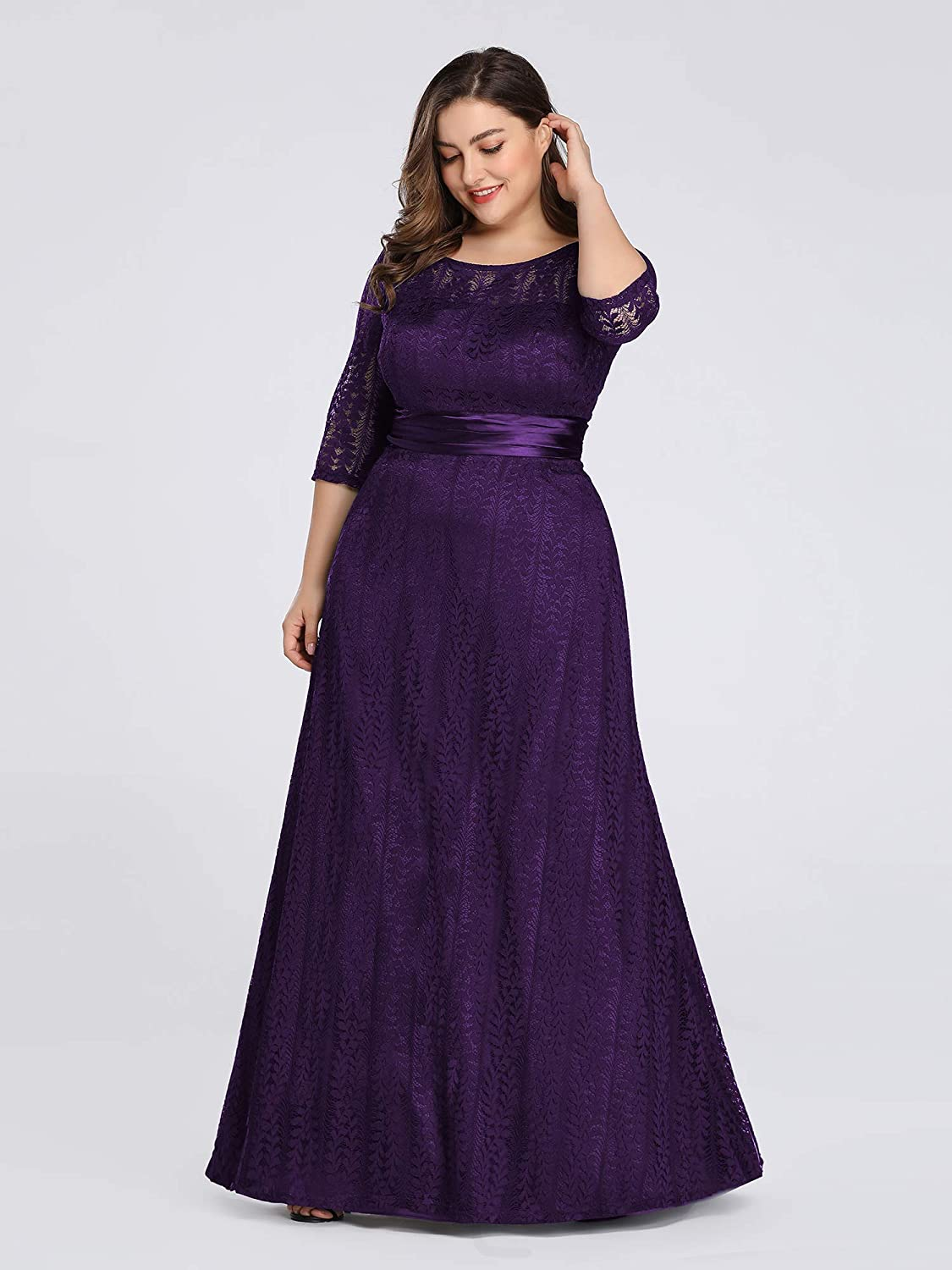 Ever-Pretty US Lace Sleeveless Long Evening Dresses A-Line Bridesmaid Party Gown