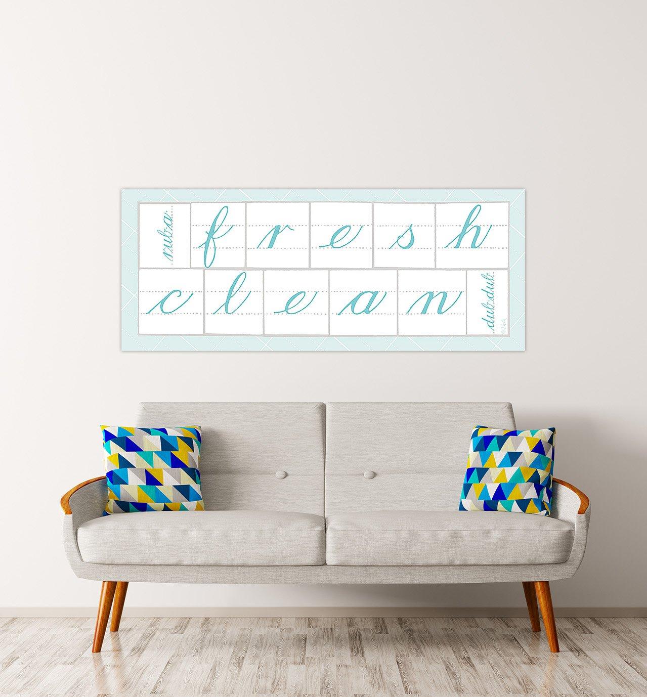 DìMò ART Bild Druck auf Leinwand mit mit mit Rahmen in Holz Schlabach Sue Fresh Clean Blau 175x70 cm 175x70 cm B07DYLXGVF | Sale Online Shop  1b0f39