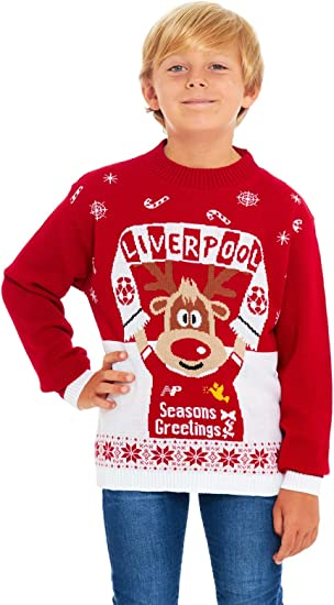 Football Jumper Sweater Christmas Xmas 2020 Exclusively to Ltd for Ages 2-14 Years HSA Boys Girls Kids Children Unisex Christmas Xmas Knitted Novelty Retro Elf