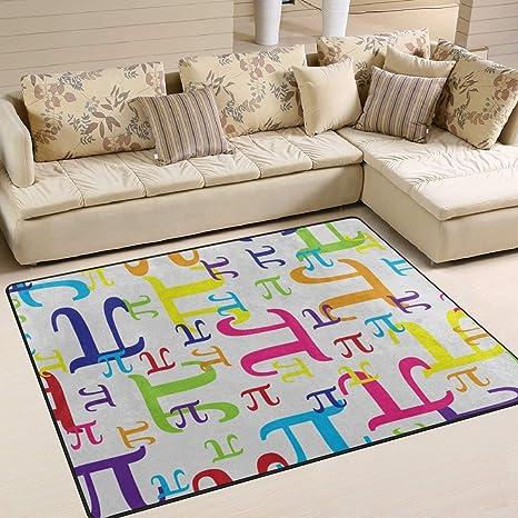 Amazon Com Gaz X Colorful Pi Math Area Rug Rugs Living Room