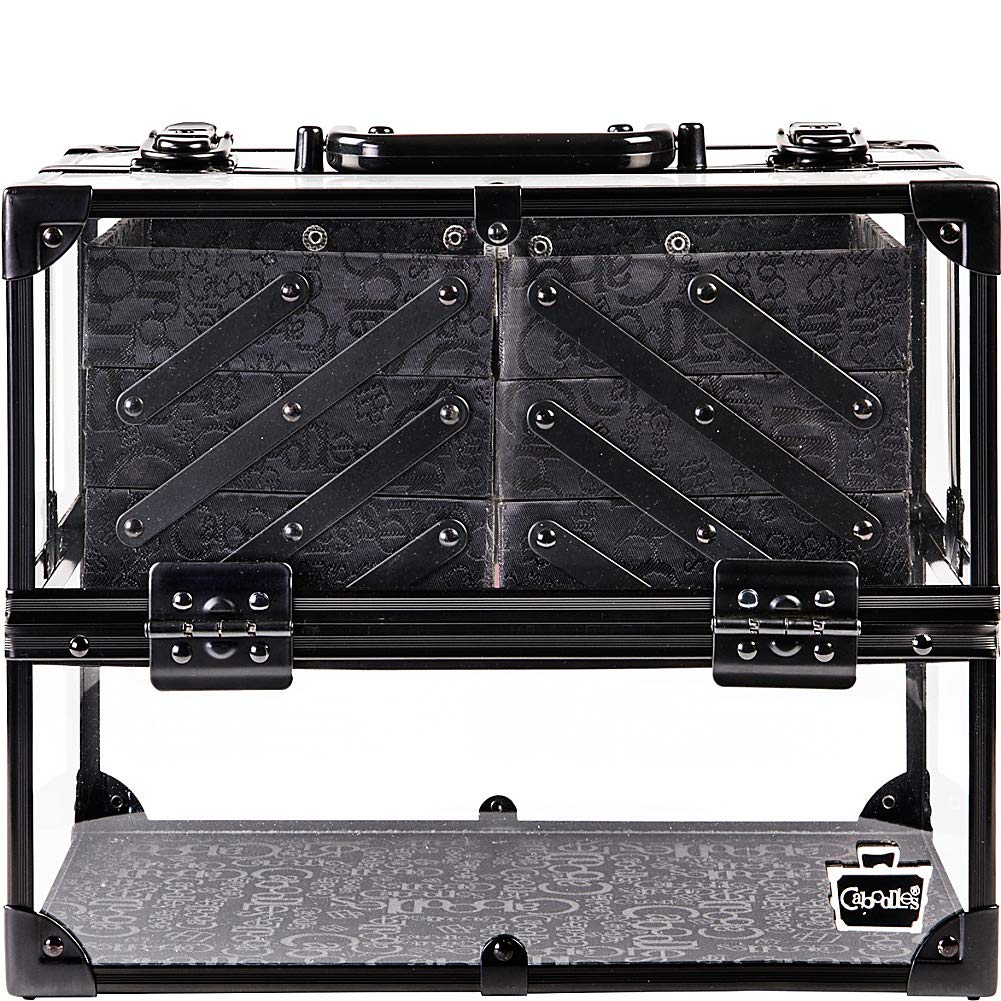 Caboodles Neat Freak 6-Tray Train Case (Clear with Black)