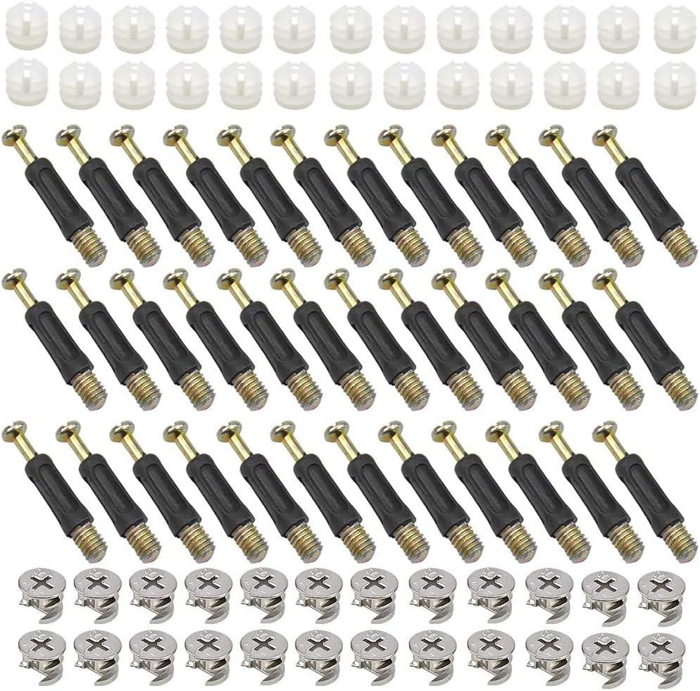 Xkfgcm 50 S/ätze Exzenter M/öbelverbinder Verbindungsbeschlag M/öbelbeschlag Exzenterrad Modell 37131 Den Stift Einschrauben 15 mm Rastex Bohr /Ø 15mm Zinkdruckguss Verzinkt f/ür Tischschr/änken