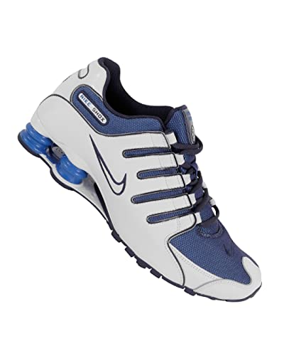 factory price 44f47 dc135 Nike Shox NZ 378341147, Baskets mode homme, Mens, white  blue
