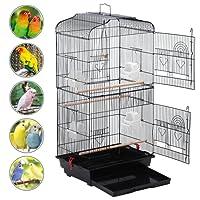 Yahee Jaula para Pájaros Jaula Metálica para Mascota Aves Loros Canarios 46 x 36 x 92 cm