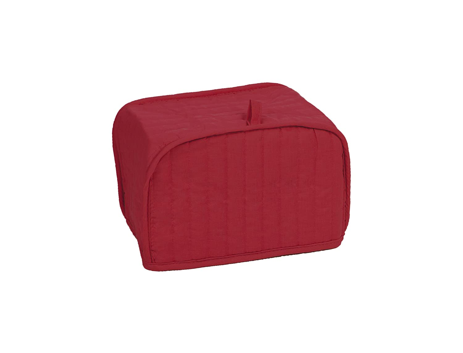 RITZ Polyester / Cotton Quilted Four Slice Toaster Appliance Cover, Dust and Fingerprint Protection, Machine Washable, Paprika Red