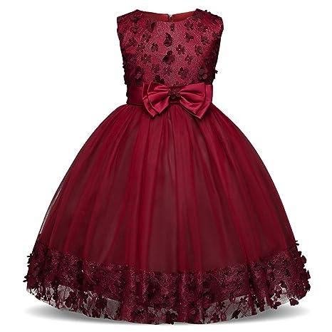 Girls Dress Pink Party Sleeveless Dresses Kids Clothes Birthday Wedding Dress Tutu Dresses for Girls Costume,Green,4T