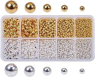 PandaHall Elite Rondelle Nickel Free Brass Rhinestone Straight Flange Spacer Beads Rose Gold 4x2mm for Craft 50pcs//bag