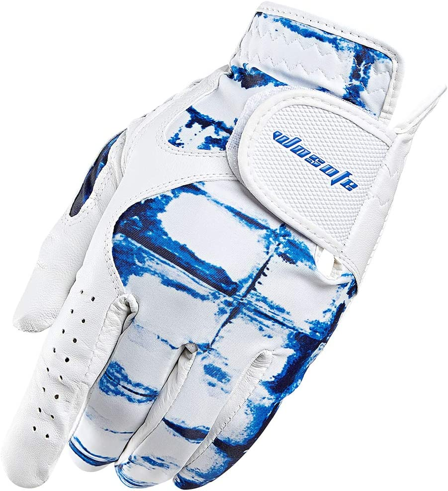 wosofe Golf Glove for Men s Left Hand White Soft Leather Breathable Professional Golf Hand Wear