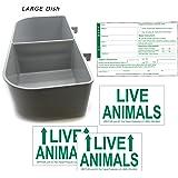 Kennel Travel Kit for Pets - Hook-On Dish & Live Animal Labels