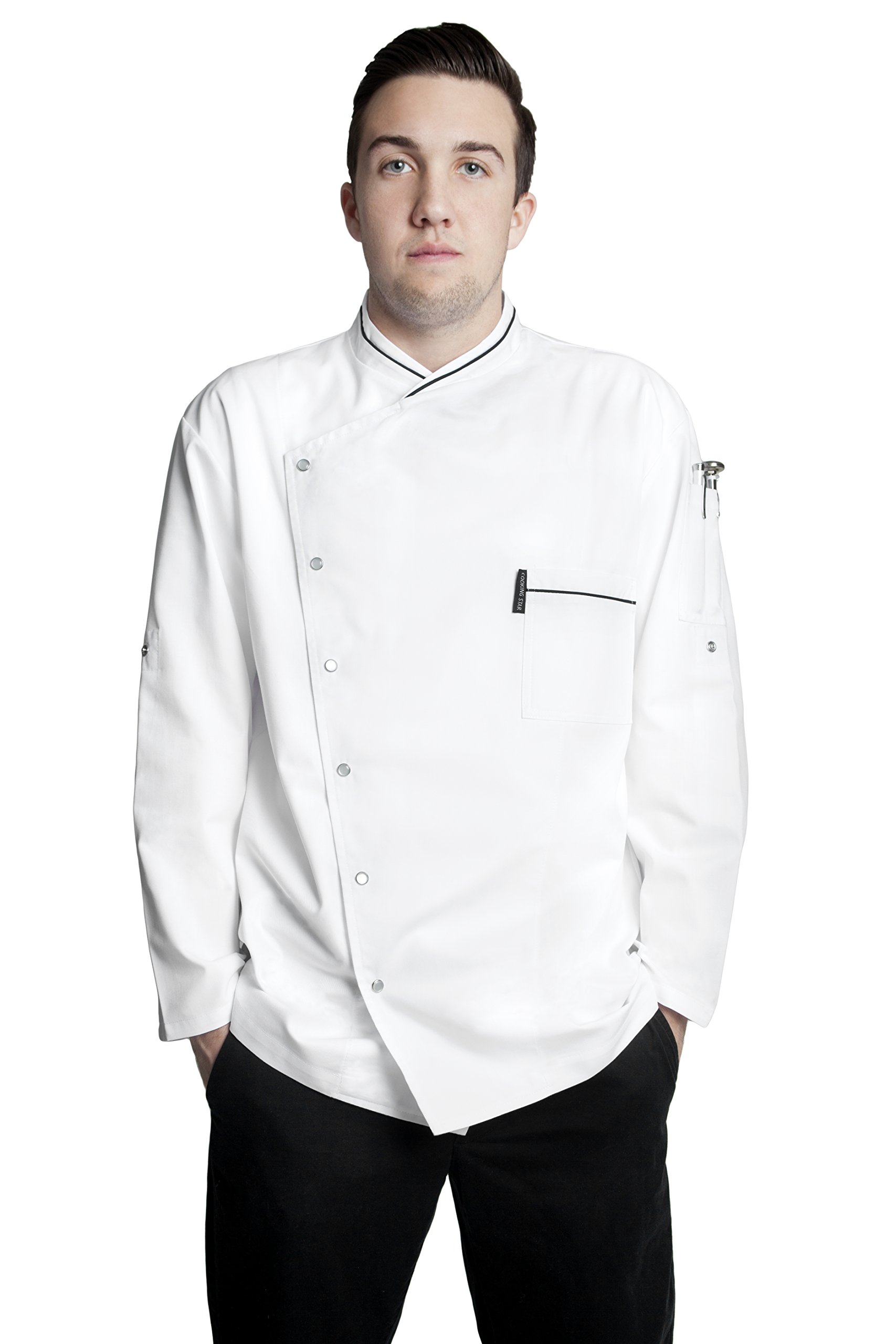 Bragard Men's Chicago Chef Jacket 40 White by Bragard