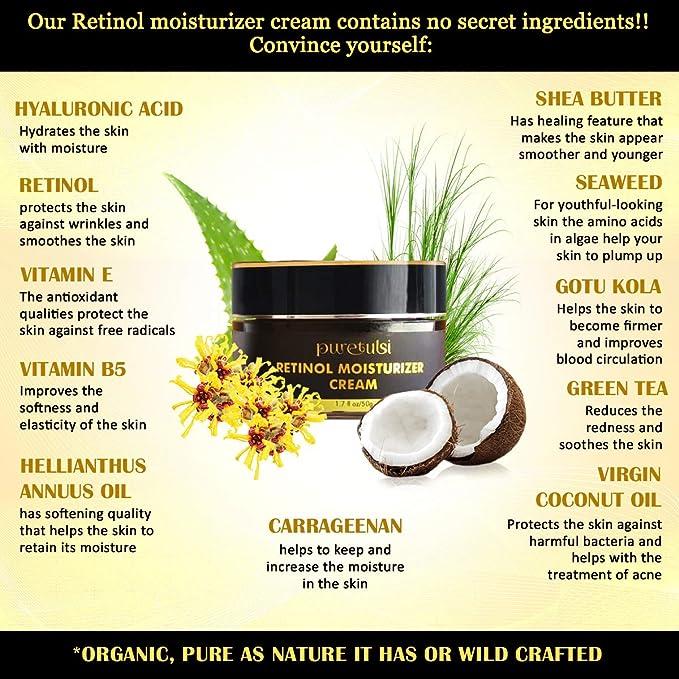 CREMA HYDRATANTE RETINOL: organica, vegana con 2.5% de ...