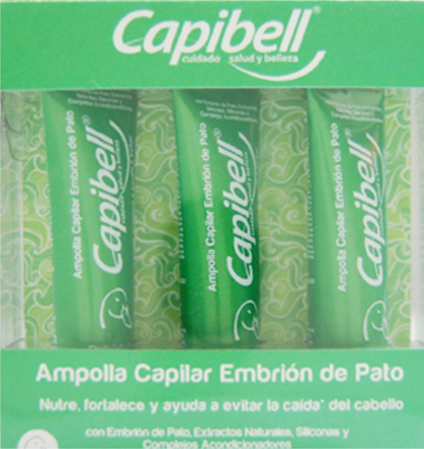 Amazon.com : CAPIBELL-Embrion de Pato Ampolla Tratamiento anti caida (BOX 3PCS) : Beauty