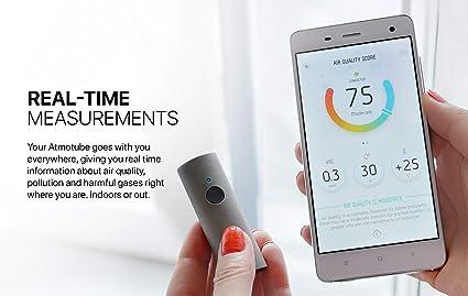 Atmotube 2.0 - Portable Air Quality Monitor. Indoor/Outdoor Air Pollution Tracker: Amazon.es: Industria, empresas y ciencia