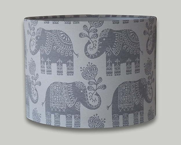 Elephant cream grey drum lampshade 20cm 25cm 30cm 35cm 40cm lamp elephant cream grey drum lampshade 20cm 25cm 30cm 35cm 40cm lamp shade lightshade aloadofball Image collections