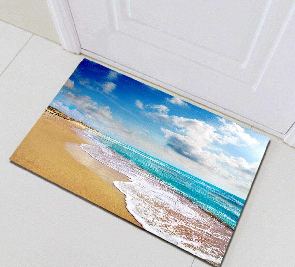 Marble Texture Golden Splatter Lines Bathroom Mat Door Mat Anti-Slip Floor Indoor Entrance Mat Children 40X60CM Bathroom Accessories