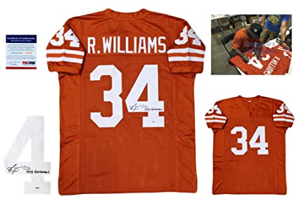 RICKY WILLIAMS Signed Custom Jersey - PSA DNA - Autographed - Burnt ... 43214e289
