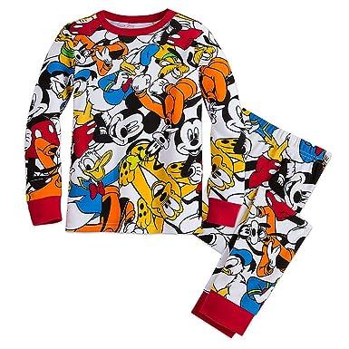 Amazon.com  Disney Boys Mickey Mouse and Friends PJ Pals Pajamas ... c5e7e7859