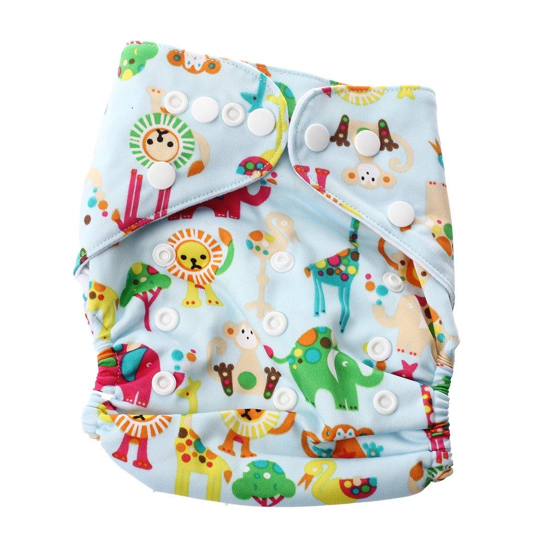 SODIAL(R) Bebe Tissu Couches Couche Sur un pantalon couche Culotte d'entrainement reglables Reutilisables (couche pas dans le paquet)